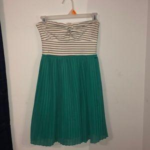 ROXY STRAPLESS STRIPED DRESS